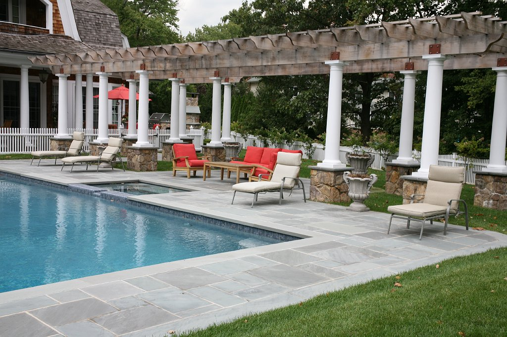 Franklin Lakes, NJ U2013 Wet Laid Blue Blue Bluestone Patios, Indian Fieldstone  BBQ And Fire Place.